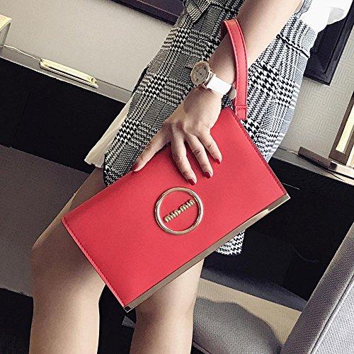 Aoligei Sac à main de dames épaule unique de mode oblique cross petit côté paquet loisirs PU femme sac C