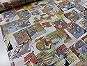 トムとジェリー コミック2 カラフル オックス生地 |キャラクター|生地|布|入園入学|通園通学|キッズ|男の子|女の子|の商品画像