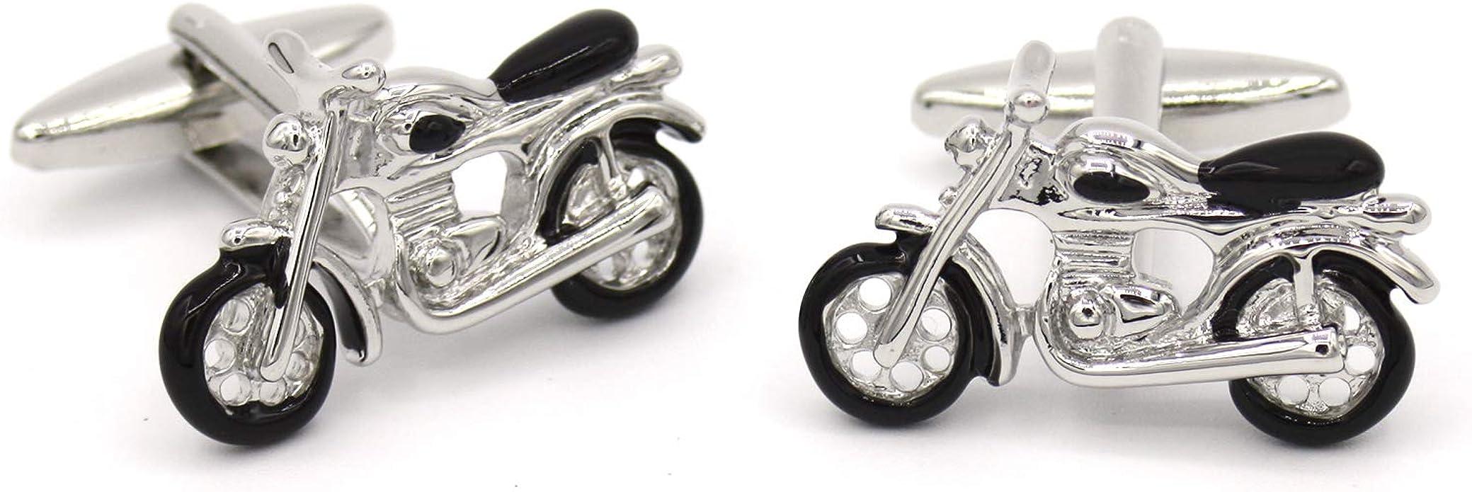 Gemelos de camisa originales Moto Harley. Diseño inspirado en la mítica motocicleta americana. Colección de moda hombre: línea boda y eventos. Regalo divertido y elegante presentado en caja: Amazon.es: Joyería
