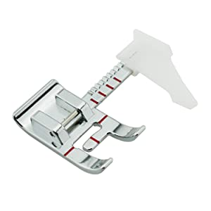 DREAMSTITCH 250026947 Adjustable Guide Sewing Machine Presser Foot Max 7mm Zigzag-Fits All Low Shank Snap-On Singer Brother Babylock Euro-Pro Janome Kenmore White Juki Simplicity Elna and More 6708-2