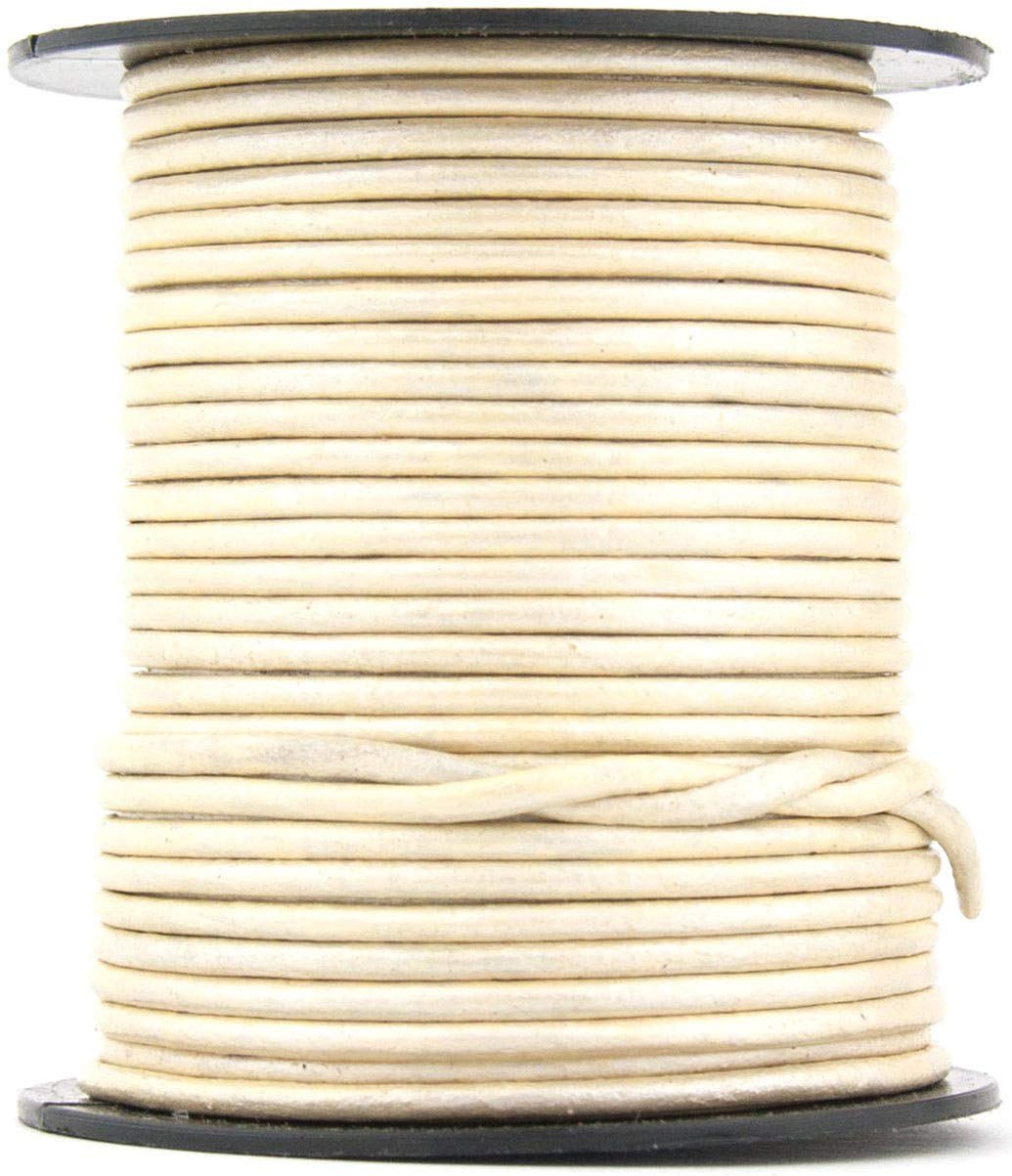 Pearl Metallic Round Leather Cord 1.5mm 100 Meters (109 Yards) by RERA SHOP (Image #1)