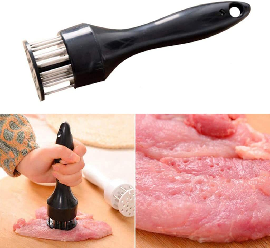 Martillo ablandador de carne con 20 agujas de acero inoxidable cerdo mazo ablandador herramientas de cocina y gadgets A maximiza el sabor de la carne de vacuno cordero