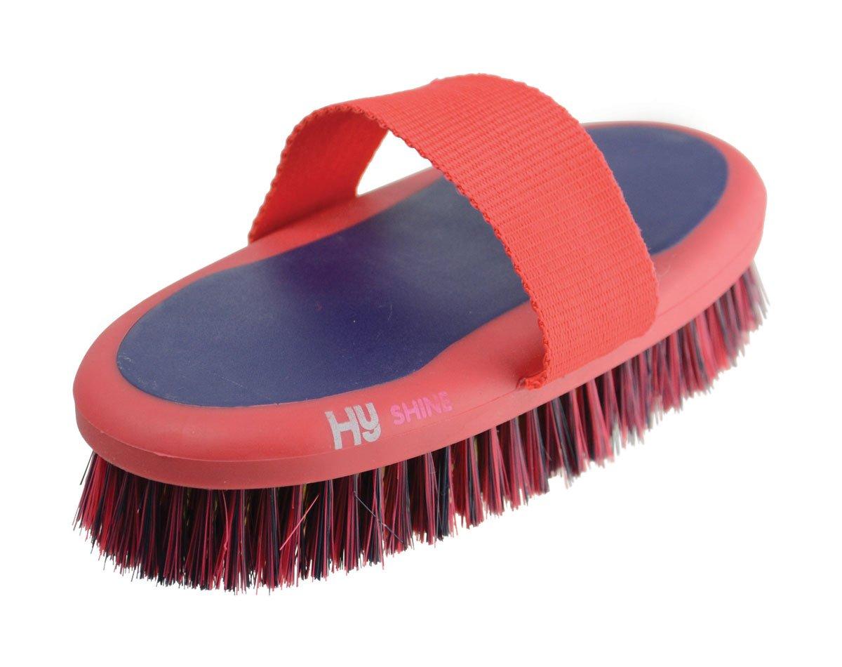 HySHINE Pro Groom Body Brush 20 x 9.5cm Navy//Red 8306