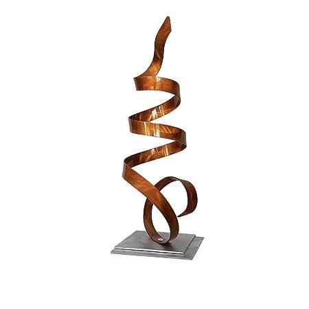 Statements2000 Contemporary Centerpiece, Modern Metal Art, Table Desk Decor, Accent Sculpture – Copper Sea Breeze Accent by Jon Allen – 18