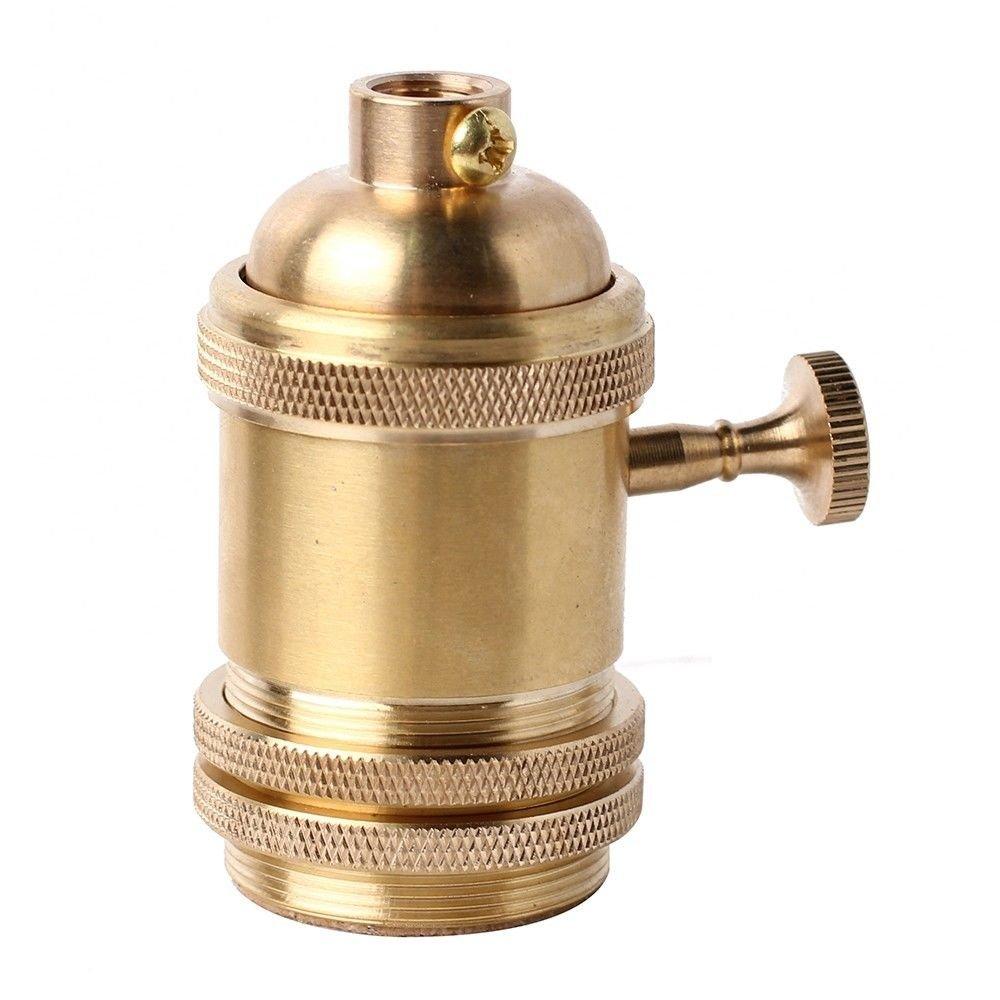 Gladle Douille l/ég/ère en laiton en laiton Prise de support Edison E26 E27 avec interrupteur ON OFF
