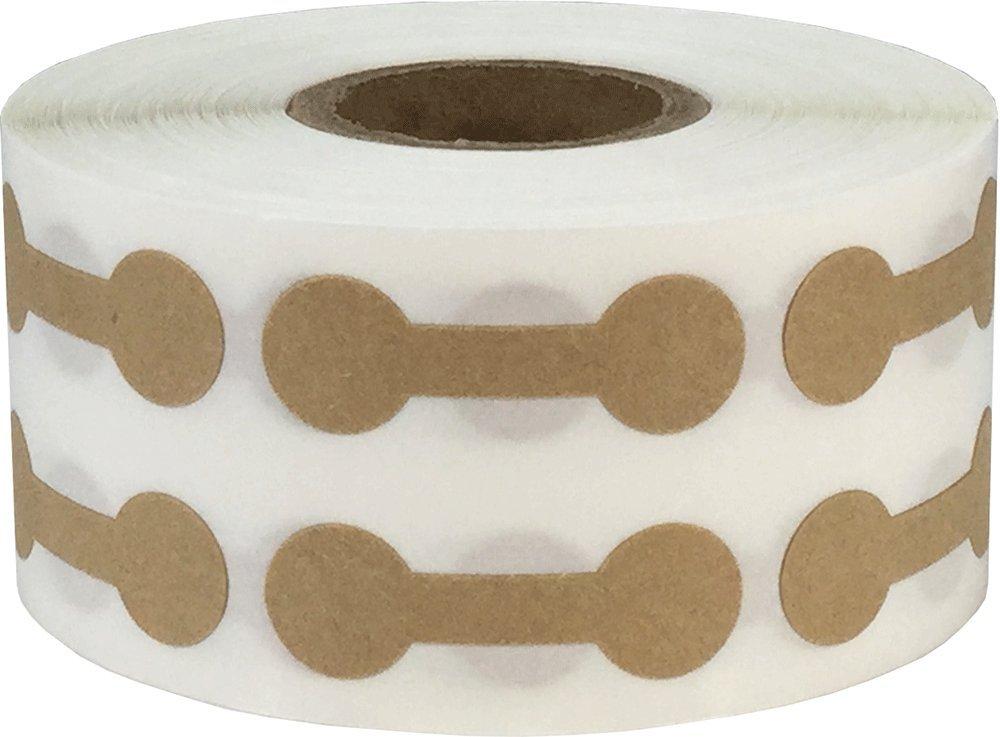 11 x 33 mm 7//16 x 1 5//16 Pollici di Larghezza 1000 Etichette su Rotolo Kraft Marrone Merce Bilanciere Gioielli Adesivi