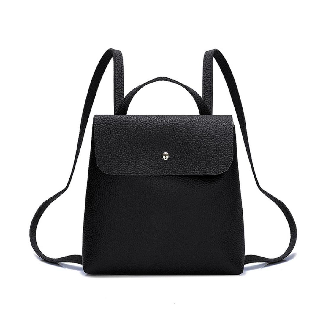 Clearance Sales!! ZOMUSAR Women Girl Pure Color School Bag Travel Cute PU Leather Mini Backpack Women Girl Pure Color School Bag Travel Cute PU Leather Mini Backpack (Black)