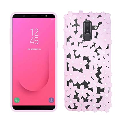 buy popular 1c165 bb2f5 Case Creation Samsung J8 Flowers Case,Cute 3D Elegant: Amazon.in ...