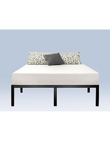 4b0aea054aeb1 Zinus Yelena 14 Inch Classic Metal Platform Bed Frame with Steel Slat  Support   Mattress Foundation