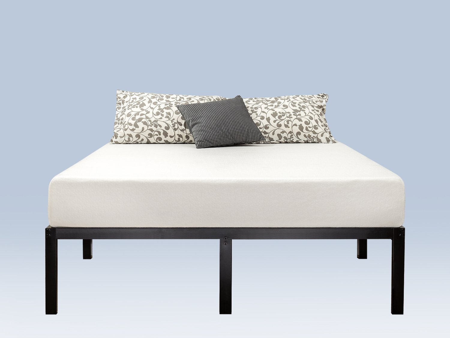 Zinus Yelena 14 Inch Classic Metal Platform Bed Frame with Steel Slat Support / Mattress Foundation, Queen by Zinus