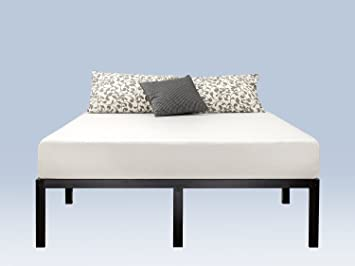 zinus 14 inch classic metal platform bed frame with steel slat support mattress foundation