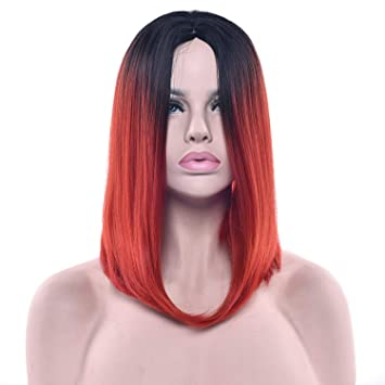 Amazon Com 11 Colors Black To Pink Ombre Hair Straight Bob Wigs