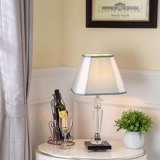WXCG Lámpara de Mesa Simple Moderna Creativa Moda Cristal Azul ...