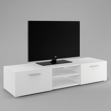 Lowboard weiß matt  Labi Möbel TV1 TV Lowboard TV unterschrank LUNA Weiß Matt: Amazon ...
