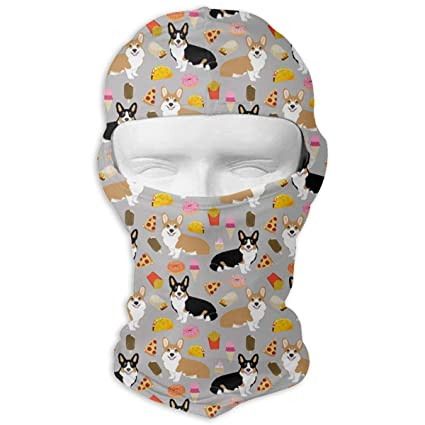 b8cd5faa0284 Corgi Pizza Full Face Ski Mask Balaclava Hood Headcover Hunting Shooting  Cycling Motorcycle Tactical Comfortable Soft