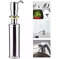 Dispenser e Dosador Inox Bancada Sabão Líquido e Detergente GH050