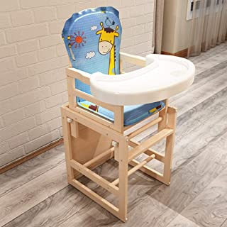 Wooden Highchair Baby Highchair Seat Compact Toddler Table Chair Highchair Baby Feeding Chair Multi Function Recline Adjustable Highchair Soft Comfortable Highchair