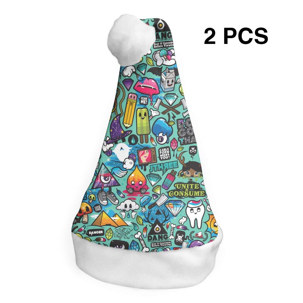 FDJC Juego de 2 Gorros navideños con diseño de búhos y Cuernos de ...