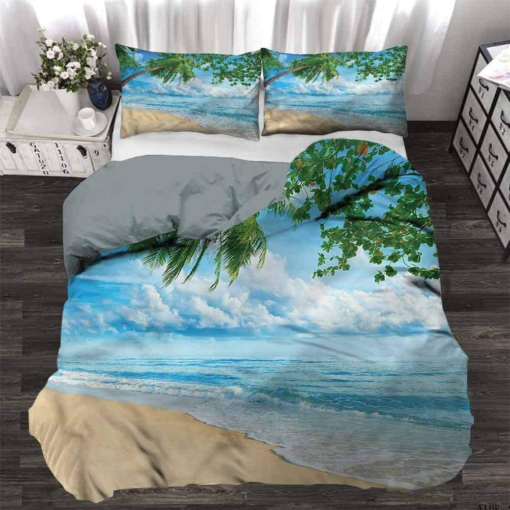 Amazon Com Quilt Cover Tropical Sandy Beach Summertime Teen Bedding Cover Make You Melt Whilst Asleep Full 80 X 90 Inch Home Kitchen