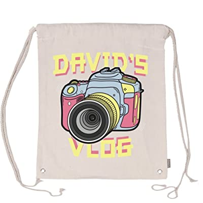 Aliensee David'S Vlog Retro Unisex Cotton Drawstring Backpack Gym Sackpack delicate