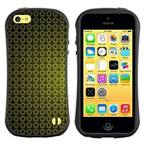 "Hypernova Slim Fit Dual Barniz Protector Caso Case Funda Para Apple iPhone 5C [Textura Verde Amarillo""]"