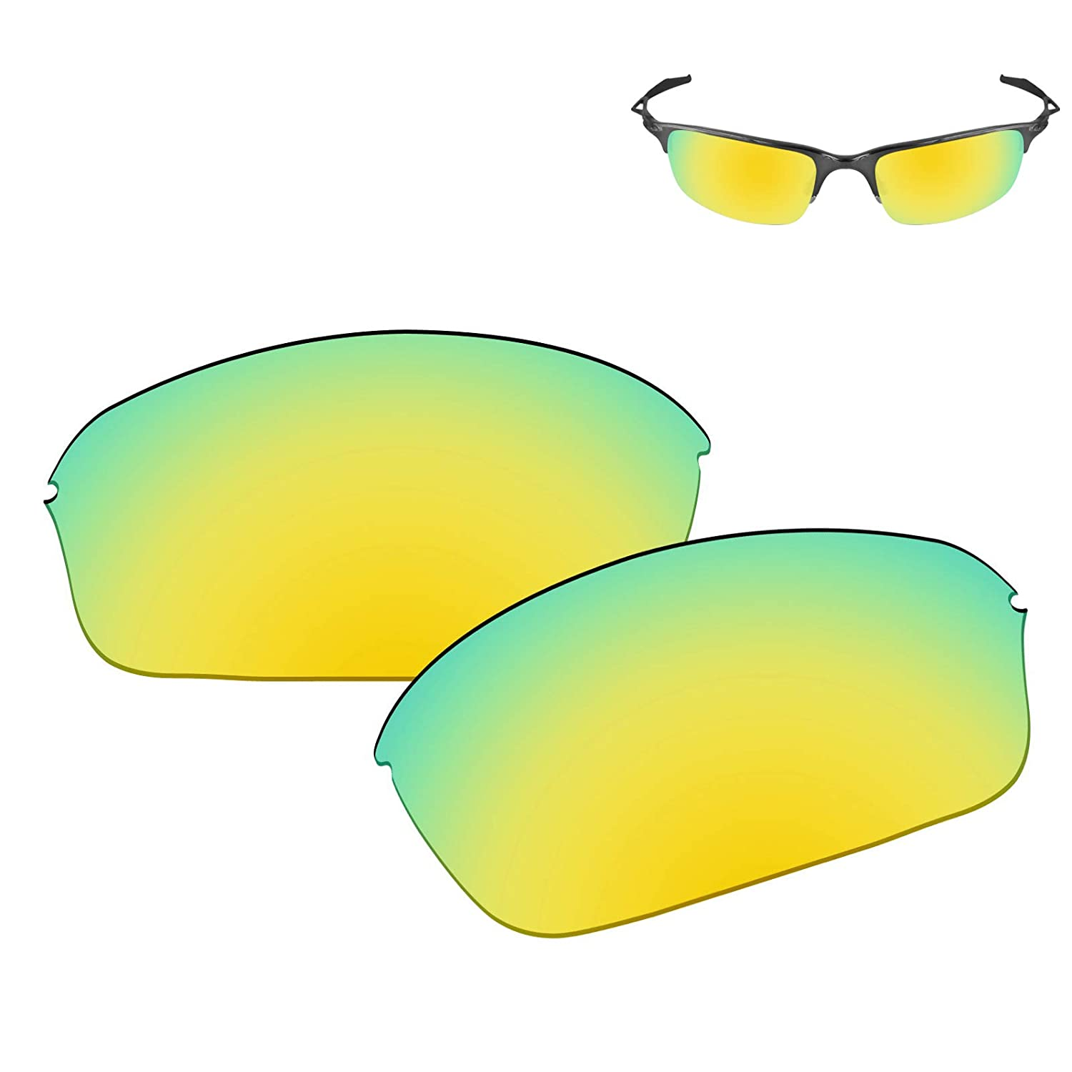 afa7bad898e Amazon.com  Galvanic Replacement Lenses for Oakley Half Wire 2.0 Sunglasses  - 24k Polarized  Clothing