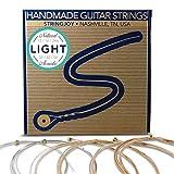 #4: Stringjoy NB1254 Handmade Natural Bronze Acoustic Guitar Strings, (Light Gauge - 12-54)