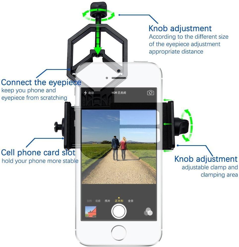ulako adaptador Smartphone Universal Digiscoping Adapter para la ...