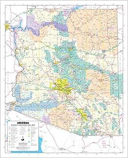 Arizona Highways and Roads Small Wall Map, Gloss Laminated: Phoenix ...