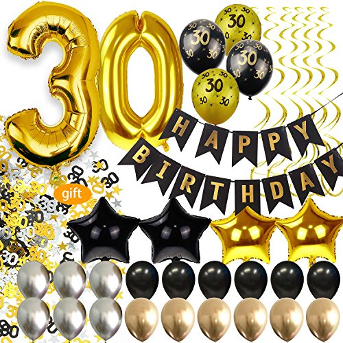 30th Birthday Decorations for Men Party Supplies Dirty Thirty Him Decor Kit -