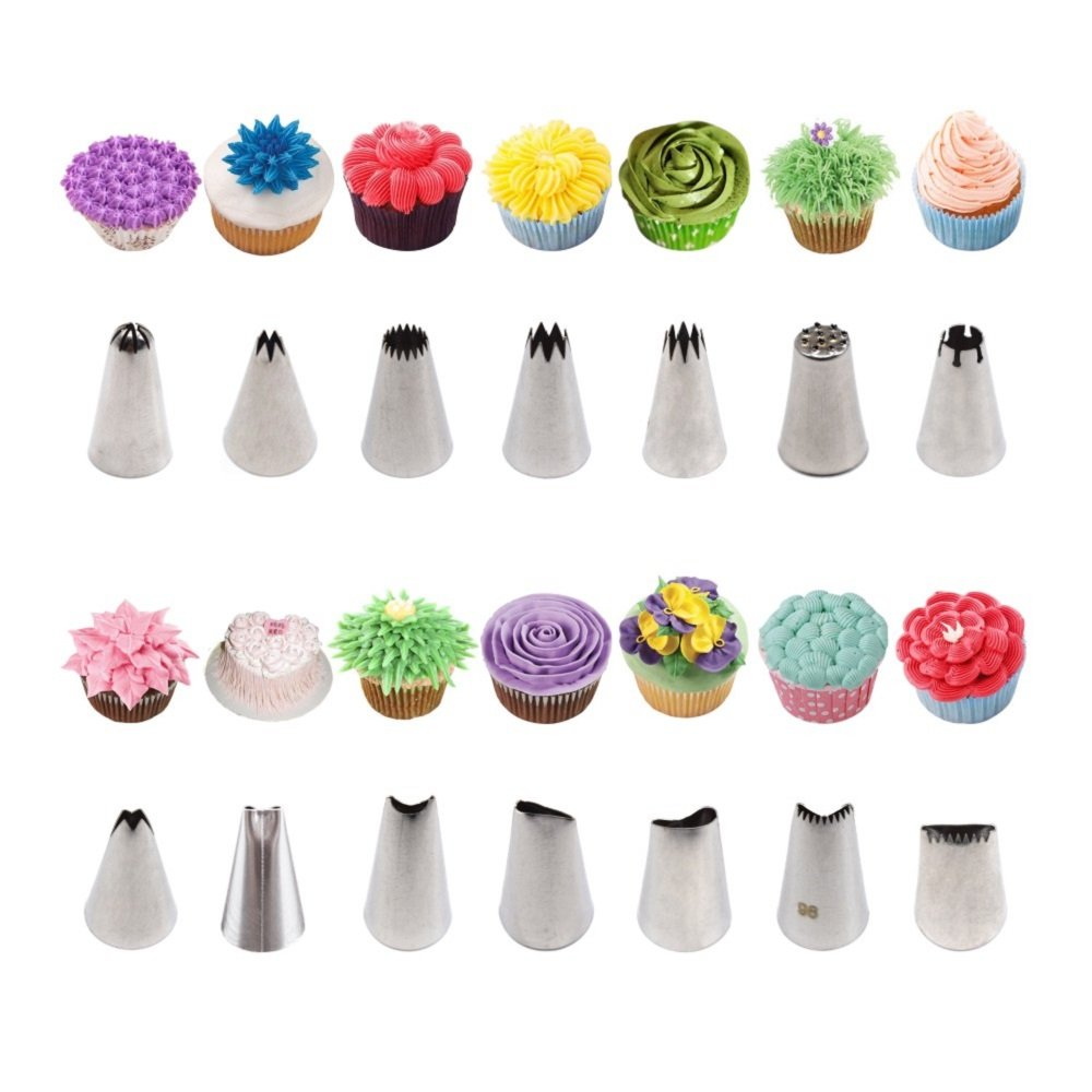 AK ART KITCHENWARE Gum Paste and Icing Leaf and Flower Tool Kit 75 Flower&Foliage Cutters 26 Icing Piping Tool 1 Veining Board 1 Foam Pad 1 Rolling Pin 10 Brushes 4 Frilling Sticks 8 Modelling Tool by AK ART KITCHENWARE (Image #9)