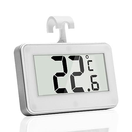 Henweit Pantalla LCD Digital impermeable termómetro para nevera ...