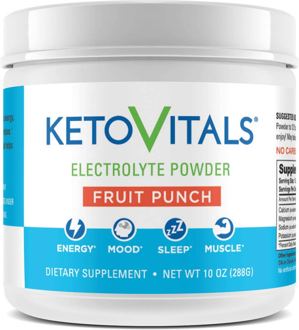 Keto Vitals Electrolyte Powder | Keto Friendly Electrolytes with Potassium, Magnesium, Sodium & Calcium | Keto Electrolytes Supplement Energy Drink Mix | Zero Calorie | Zero Carb | Sugar Free