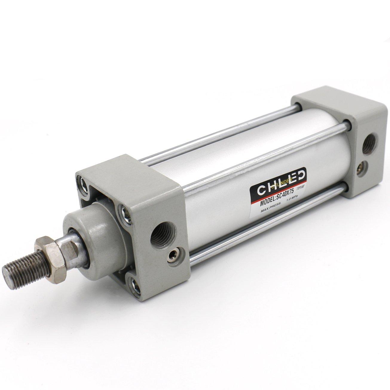 Heschen pneumatico standard cilindro SC 40–75PT1/4porte 40mm di diametro 75mm di corsa doppio, CHLED Pneumatic