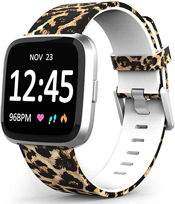 10 Packs Bands Compatible with Fitbit Versa//Versa 2//Fitbit Versa Lite//Versa 2 SE for Women and Men Small, Water Proof Fadeless Classic Soft Silicone Replacement Wristband for Fitbit Vers