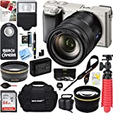 Sony ILCE-6000 Alpha a6000 Interchangeable Lens Camera Body-Silver + 16-70mm Mid-Range Zoom Lens + Accessory Bundle