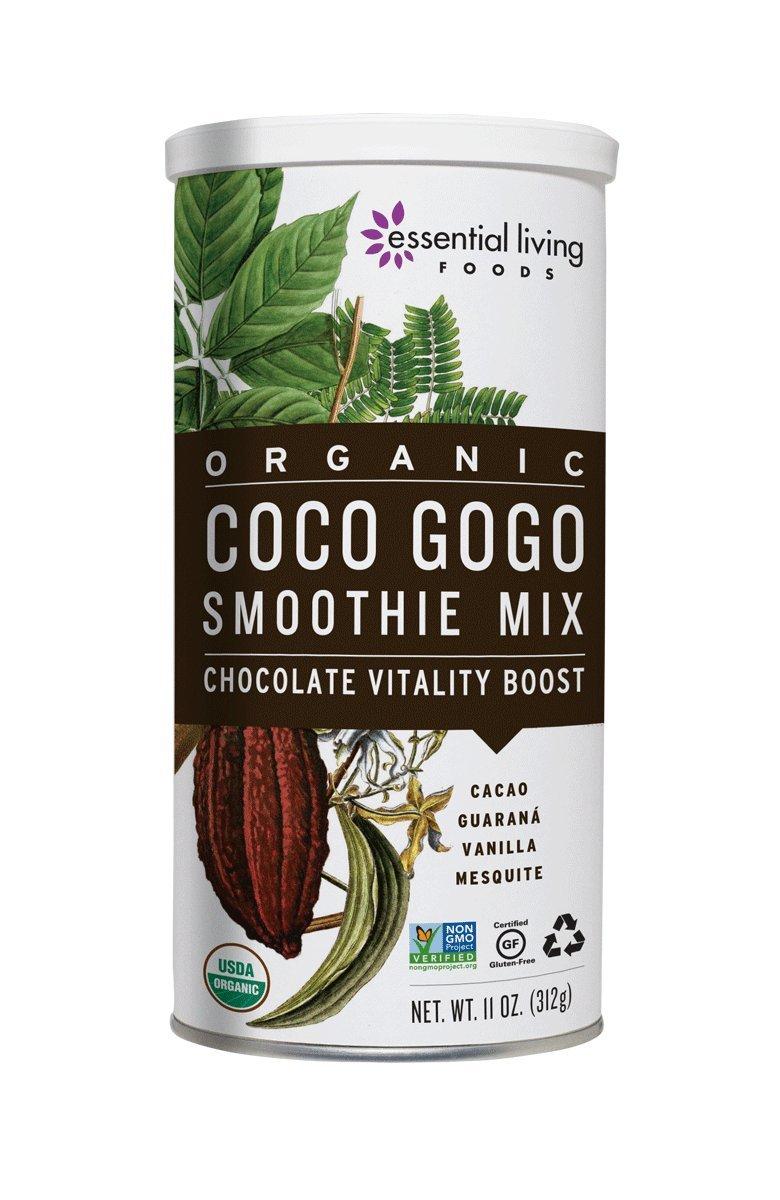 Amazon.com : Essential Living Foods Organic Coco Gogo Smoothie Mix, With  Cacao, Lucuma, Mesquite, Coconut Sugar, Guarana, Caffeine, Vegan,  Superfood, ...