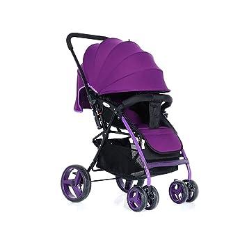 BBZZZ C-Carrito de bebé Puede Sentarse Puede acostarse Paraguas de bebé de Coche Peso Ligero Plegable Neonatal Carrito de Transporte de bebé (Color : C): ...