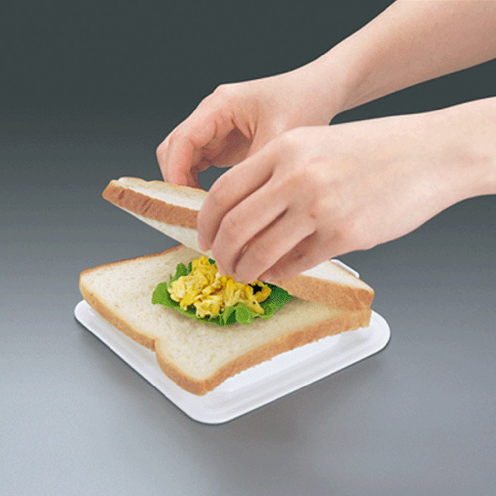 Arbor Home Japanese Pocket Sandwich Maker Stamping Cutter Bread Mould Pink/&White Very Nice Gift