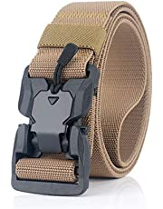 """Meister.R Tactical Rigger Belt - Magnetic Quick-Release Buckle   Nylon Canvas Breathable Belt 1.5"""""""