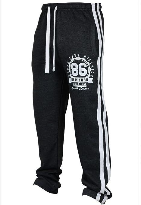 Babysbreath Uomo Sweatpants Elastico Bottoni Bottoni Aperti Stripe Caldo  Modello Digitale Casual Skinny Ginnastica Sport Joggers ea5e73618070