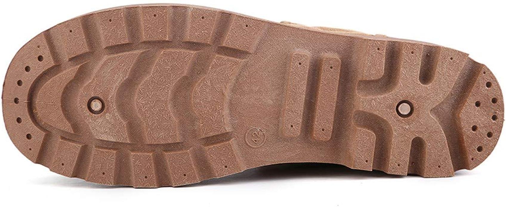 FiveFeedback Scarpe di Tela da Uomo Mocassini Scarpe da Passeggio per Esterni Pelle Pelle Fodera Maglia Camminare Escursionismo Neve Lavorare a Cavallo Sci da Caccia Arrampicata Avventura