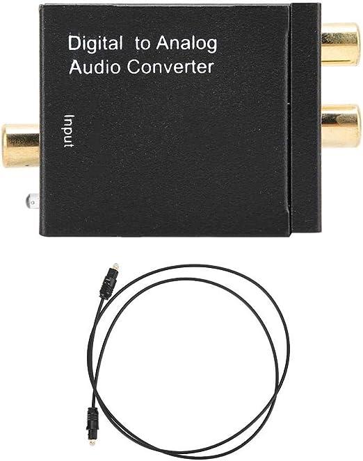 Liukouu Adaptador convertidor de Audio Digital coaxial a analógico ...