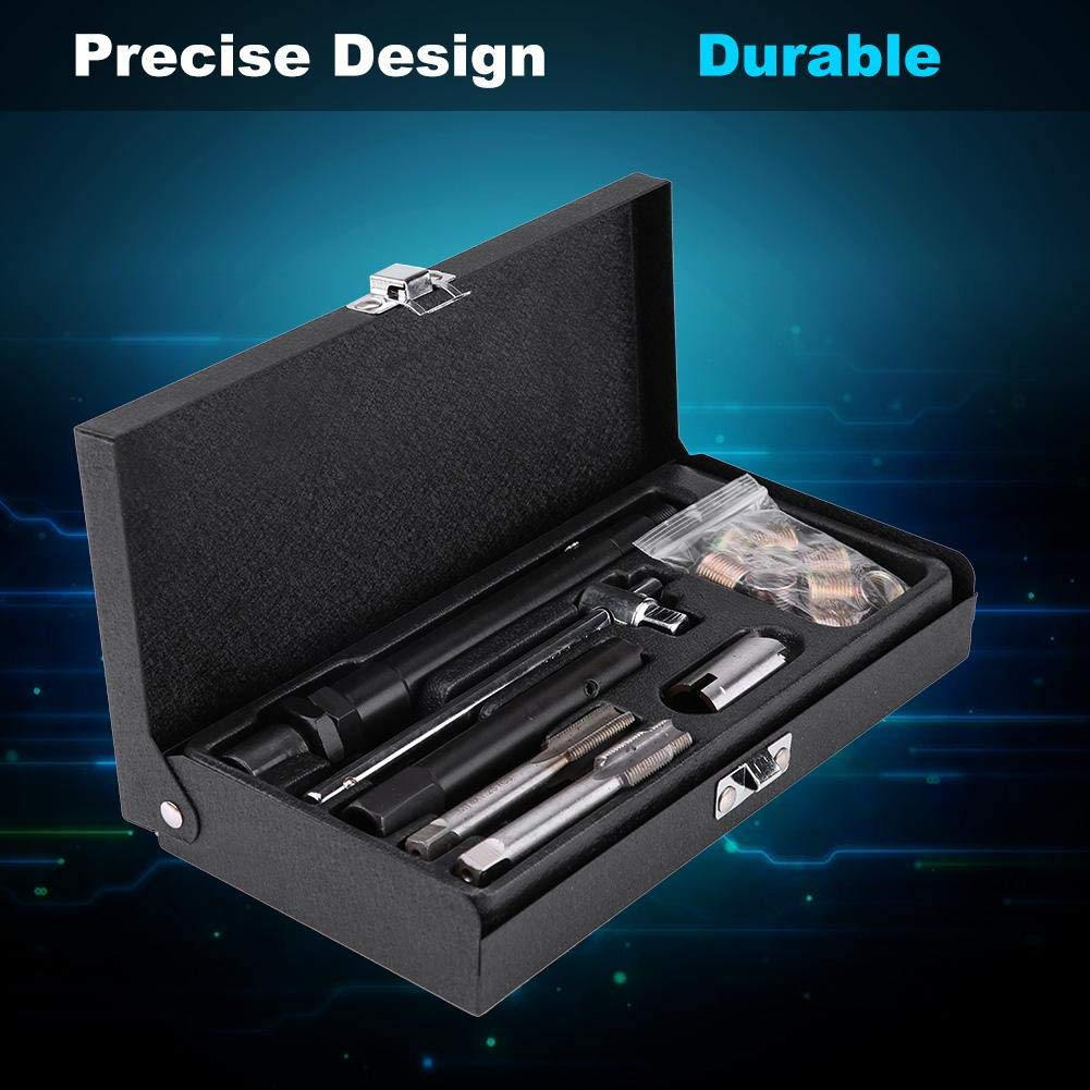 25 Pcs Car Spark Plug M141.25 Tap Screw Thread Tools Repair Kit with Case by Estink (Image #8)
