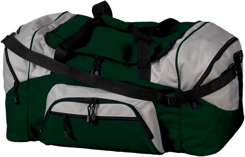 Color Block Sport Duffel Black//Grey-OSFA Port /& Company