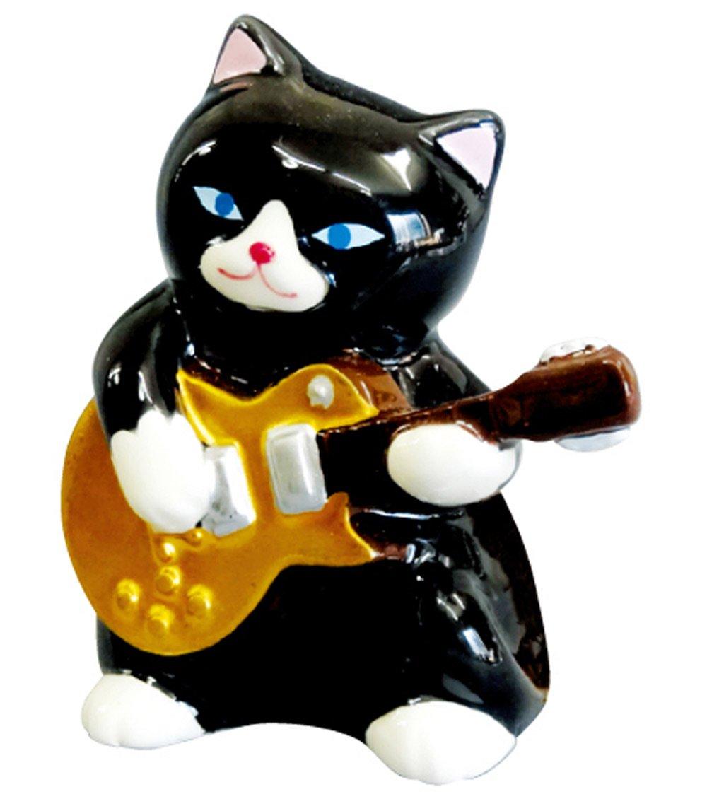 愛龍社 黒猫バンド置物 ギター AR-1415 B00HWN378U