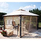 OPEN BOX 12 x 12 Square Post Gazebo Replacement Canopy Top Cover Review