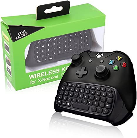 Teclado BestFire 2.4G Wireless Mini chatpad Mensaje del regulador del juego de auriculares con conector de audio para el regulador de Microsoft Xbox Un teclado Negro - emparejamiento fácil: Amazon.es: Videojuegos