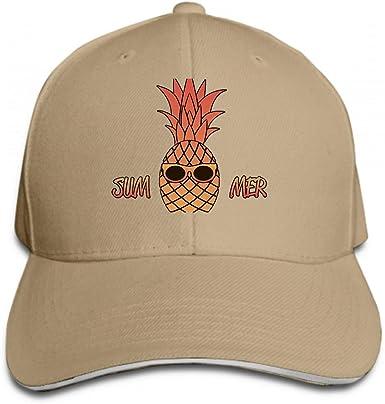 Cotton Hats Adjustable Mens Denim Baseball Caps Pineapple with Sunglasses Custom