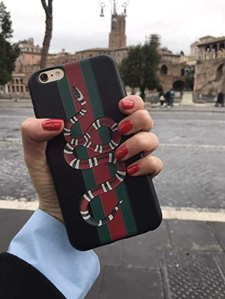 Fashion G Style  Glass Protective Case Cover For I Phone 7 Plus I Phone 8 Plus Only 5.5 Inches (Snake) by Fish